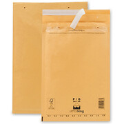 100 F6 Bubble mailers brown 240 x 350 mm (DIN A4) -...
