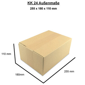 Cardboard box, single wall, 250x175x100 mm - KK 24