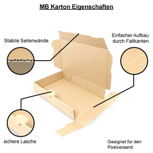 Letter-sized maxi-carton 160x110x50 mm - MB 1, brown