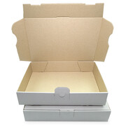 Letter-sized maxi-carton 240x160x45 mm - MB 3 weiss (DIN A5)