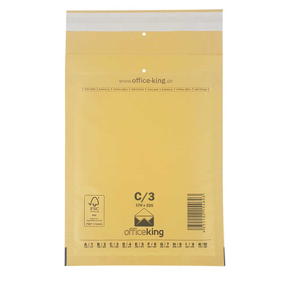10er Pack C3 Luftpolstertaschen Braun 170 x 225 mm - officeking