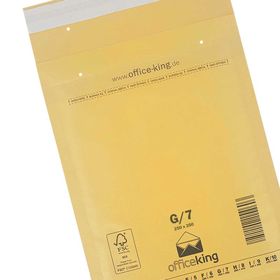 10er Pack G7 Luftpolstertaschen Braun 250 x 350 mm - officeking