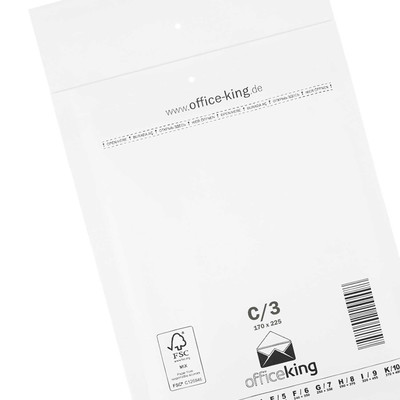 10x C3 Bubble mailers white 170 x 225 mm - officeking