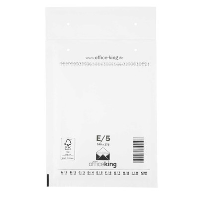 10x E5 Bubble mailers white 240 x 275 mm - officeking